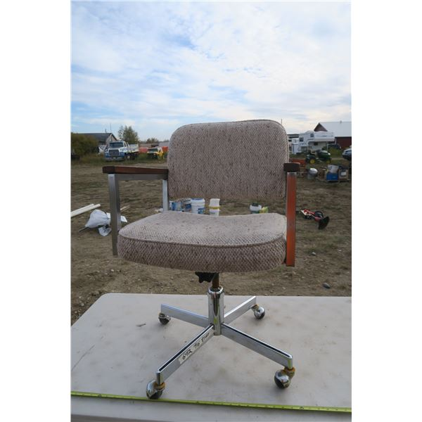 Vintage Office Wheeled Chair