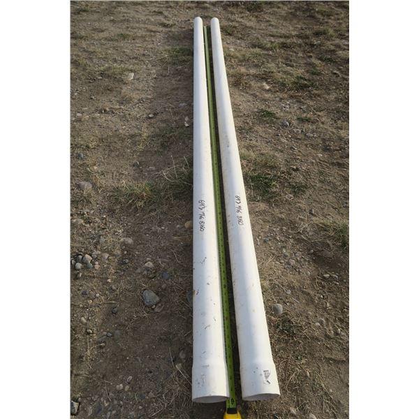 2 10ft PVC Pipes