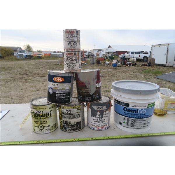 Cans of Paint / Stain / Adhesive