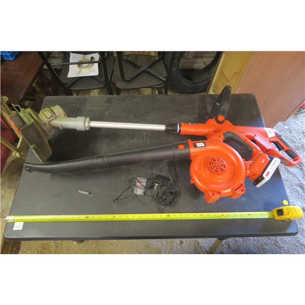 Black and Decker Weed Whip, Leaf Blower, 1 Battery and Charger