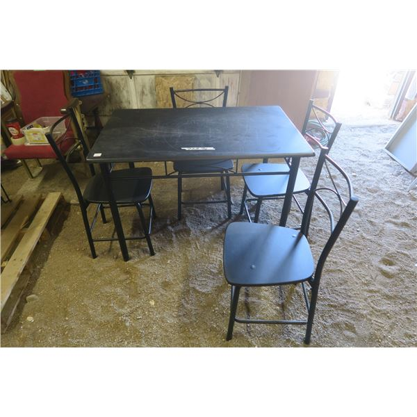 Table and 4 Chairs 27.5 X 43