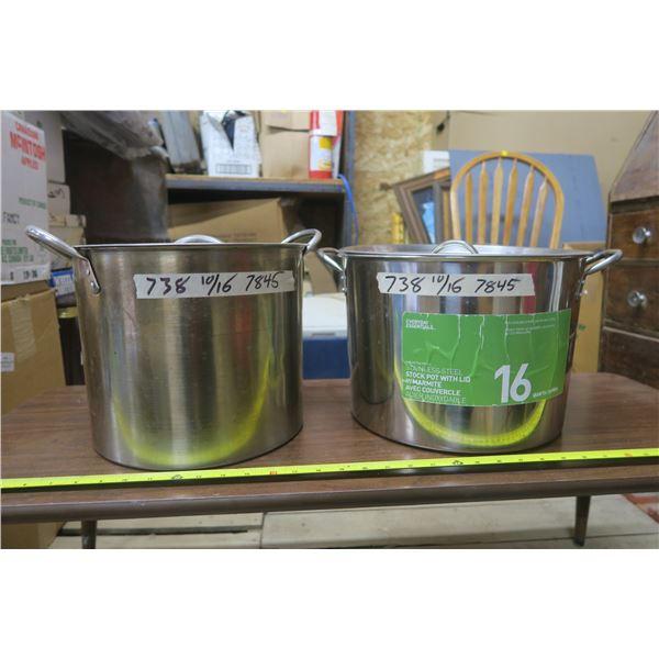 2 Soup Pots 1 16QT