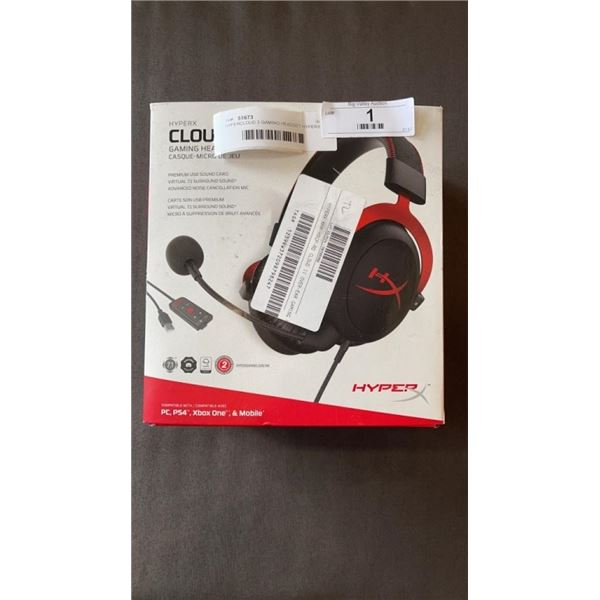 HYPERCLOUD 2 GAMING HEADSET HYPERX - WORKING, WITH USB SOUNDCARD