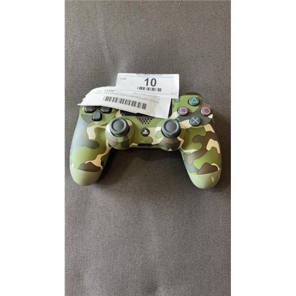 SONY PS4 WIRELESS CONTROLLER GREEN CAMO - WORKING