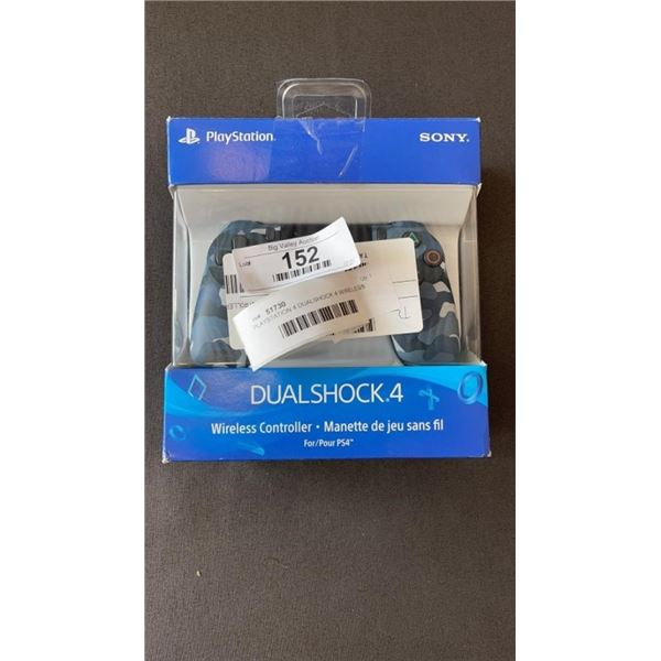 PLAYSTATION 4 DUALSHOCK 4 WIRELESS CONTROLLER BLUE CAMO -WORKING