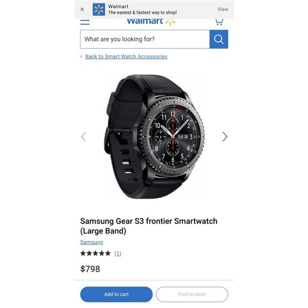 SAMSUNG GEAR S3 FRONTIER SMARTWATCH TESTED AND WORKING RETAIL $798 WITH ORIGINAL BOX