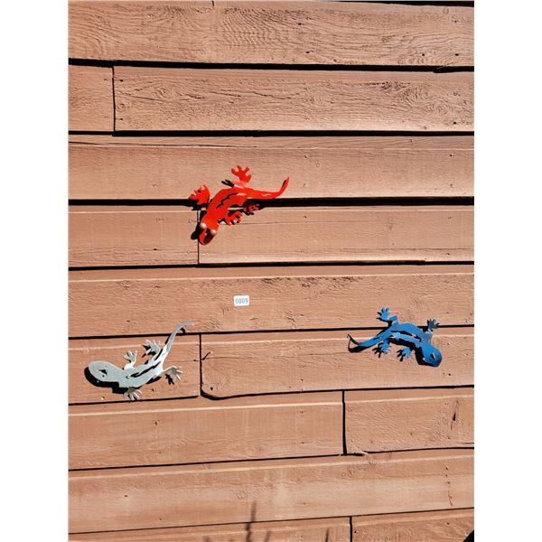 Metal Art - 3 Geckos