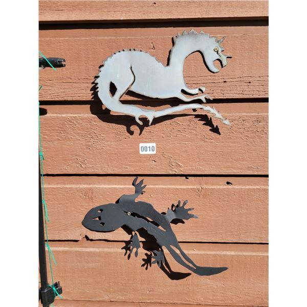 Metal Art - Dragon & Gecko