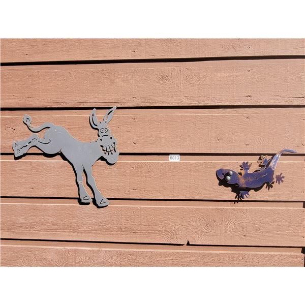 Metal Art - Gecko & Donkey