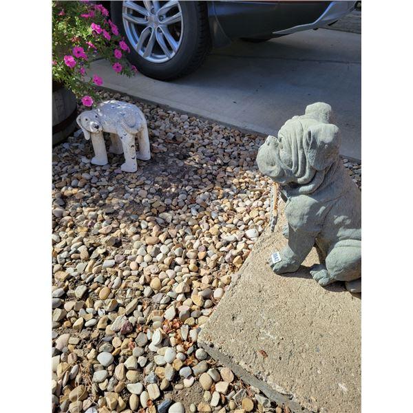 2 Dog Lawn Ornaments