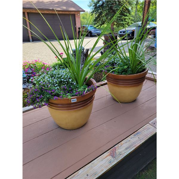 2 Large Potters with Plants