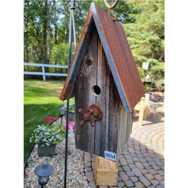 Large Metal Roof Barn Shaped Birdhouse