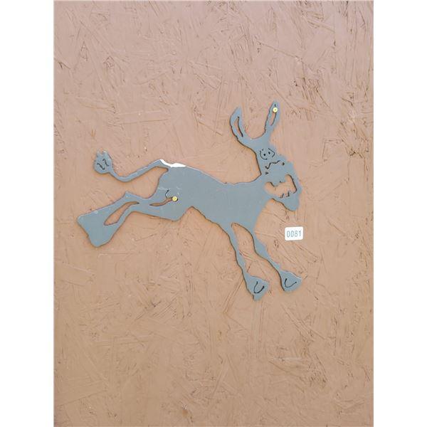 Metal Art - 2 Donkeys