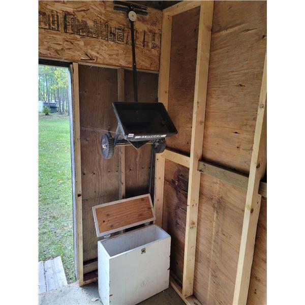 Stinger Fertalizer Spreader - 6' Ladder - Broom - Wooden Sand Box