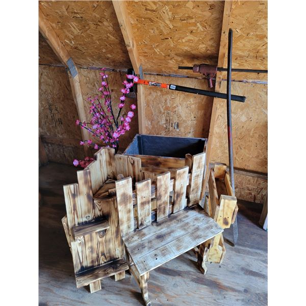 Axe - Burnt Wood Furniture - Pink Light-up Tree