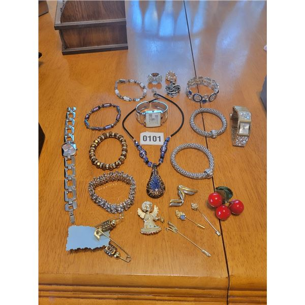 Assorted Costume Jewellery & Guess Watch
