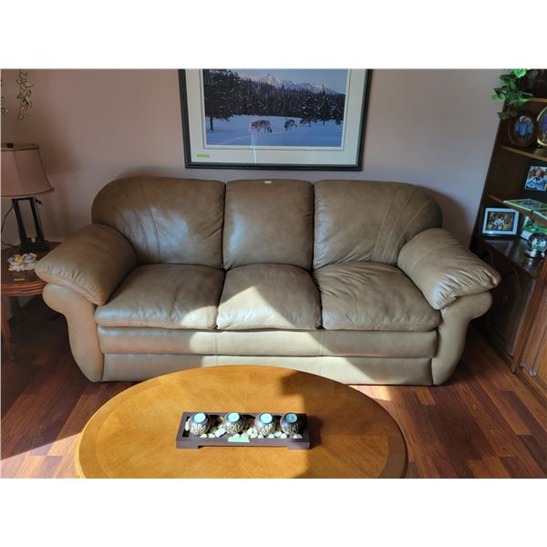 Brown Leather Lazy-Boy Couch