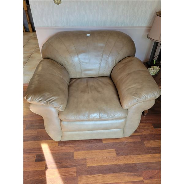 Brown Leather Lazy-Boy Chair