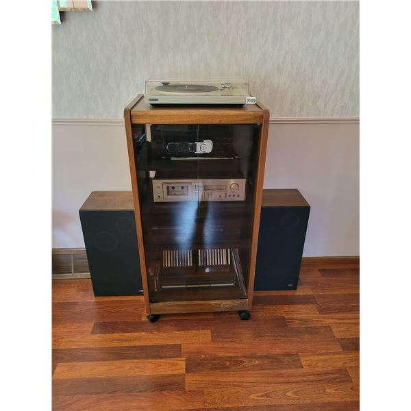 Pioneer Turn Table - Yamaha Stereo with 4 Speakers