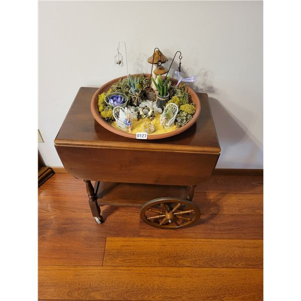 Tea Cart & Fairy Garden Decoration