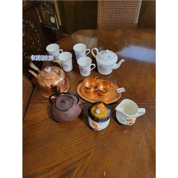Tea Pots & Cups Approx 12 pieces