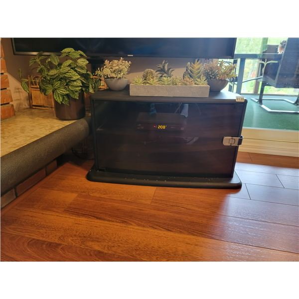 TV Stand with 4 Artificial Flowers