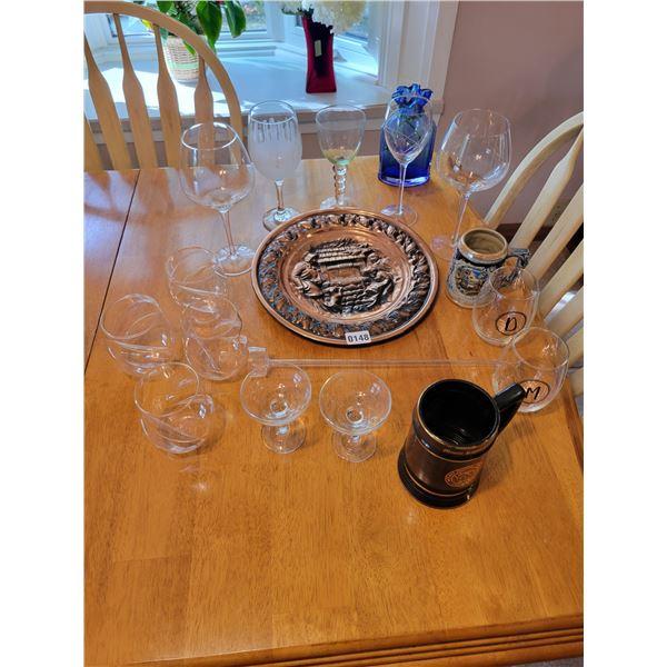 Assorted Glassware - Steins
