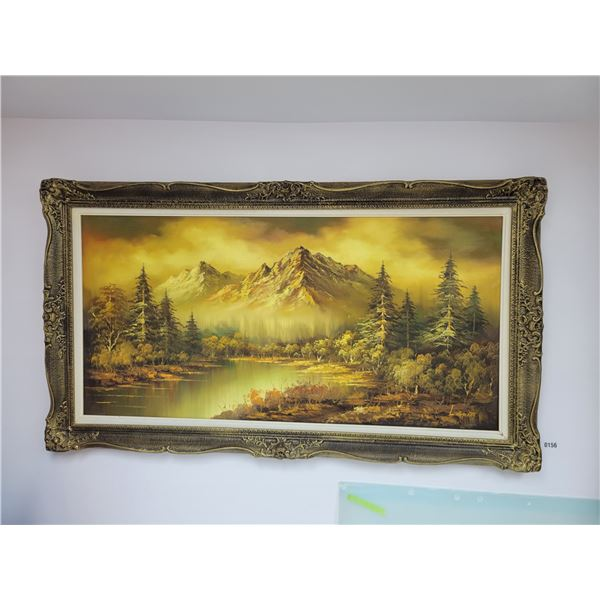 Mountain Painting by L. Grant