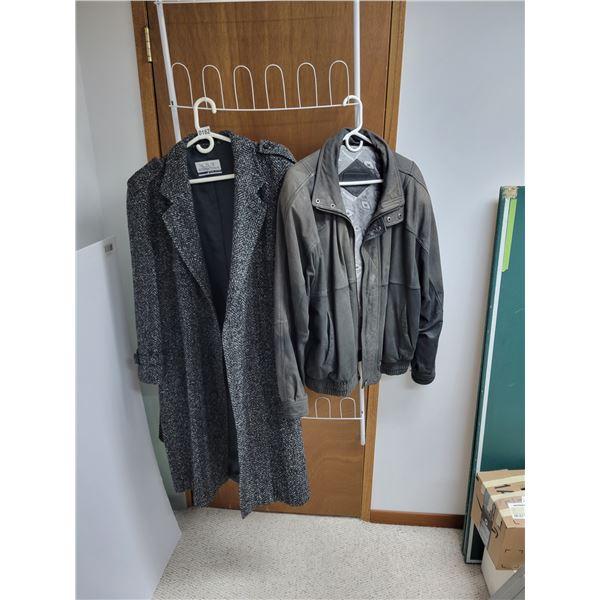 Club International Mens 50% Wool Coat - TimberBay Suede Jacket