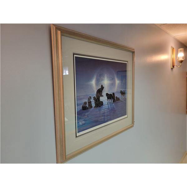 """Dog Sled Team Print 245/295 called """"Winter Light"""""""