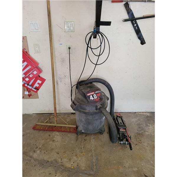 Wet/Dry Craftsman 4 Gallon Shop Vac - Broom - Floor Jack