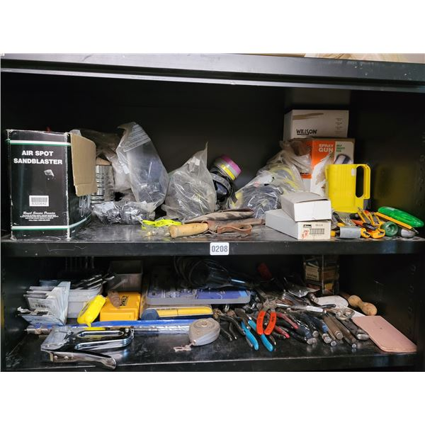 2 Misc Tool Shelves With Masks