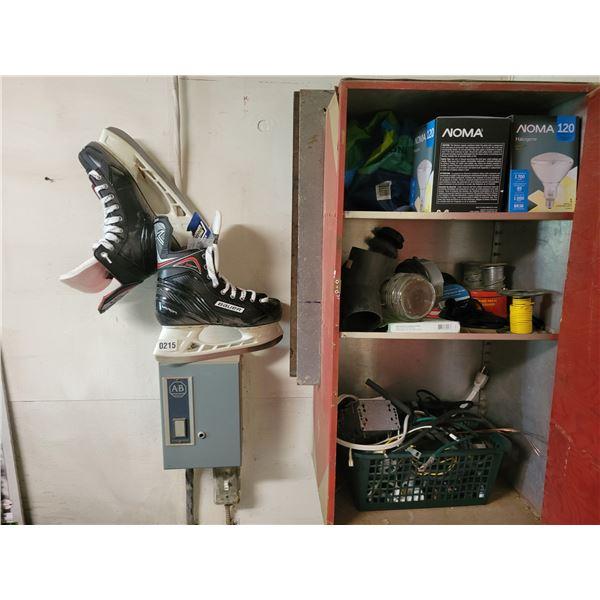 Bauer Mens Hockey Skates & Assorted Electrical Supplies
