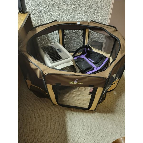 Dog Playpen - 2 Carriers for Small Breed