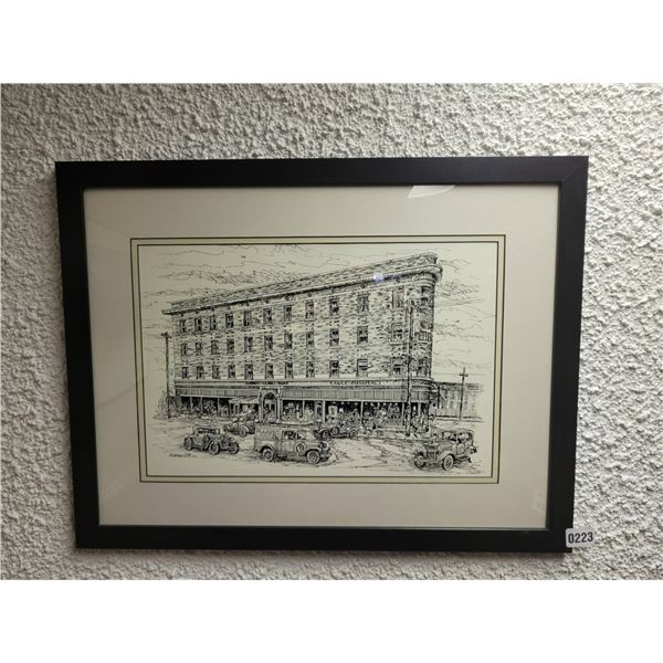 Old Fashion Building Drawing by B Neiman