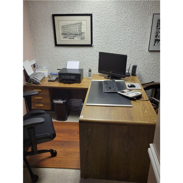 Wooden Desk Office Chair