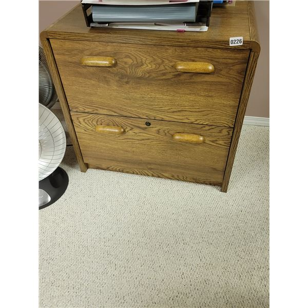 Wooden Filing Cabinet & Matching Credenza