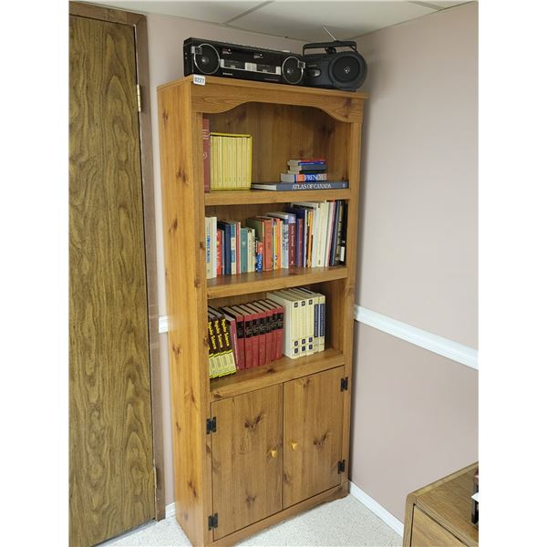Bookshelf & Books - Tape Deck & Radio