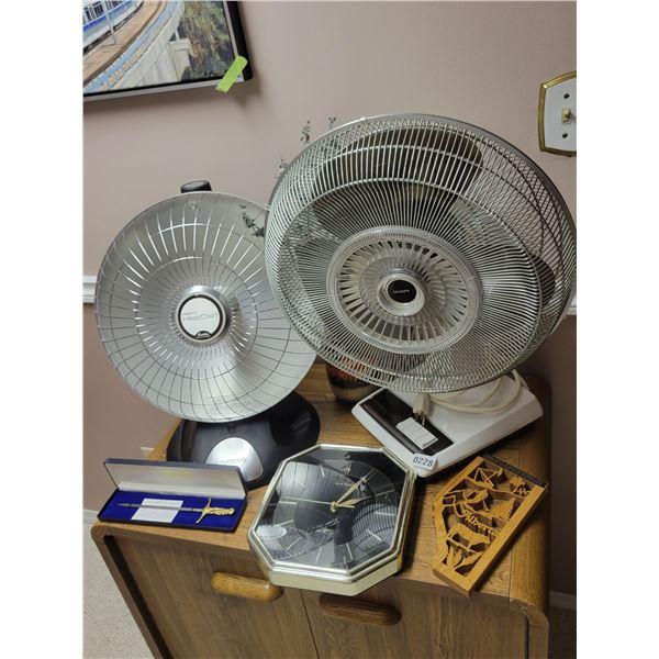 Presto Heat Dish - Sears Fan - Clock - Letter Opener - D'cor