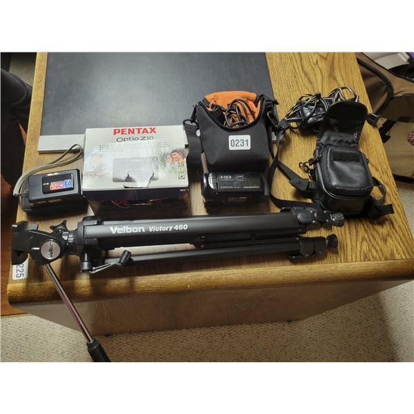 Pentax 8mp Digital Camera - Sony Handycam 8.9mp - Tripod