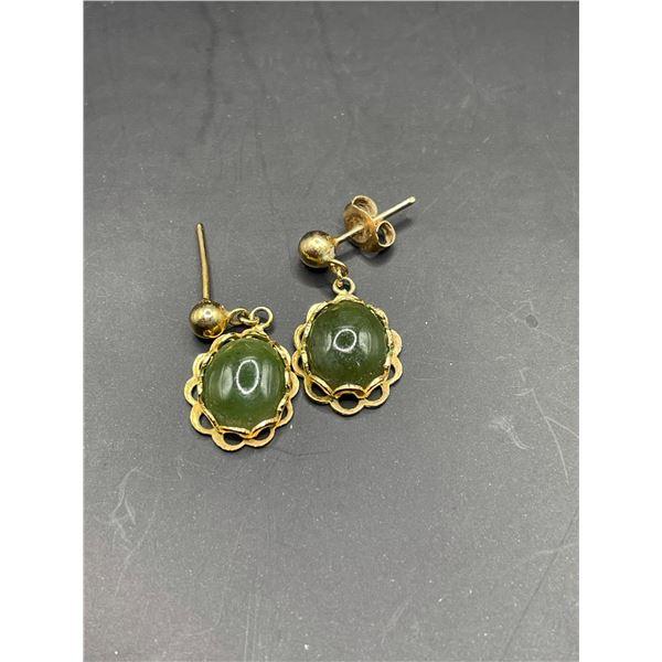 Nephrite Jade Ear Rings 2.7g