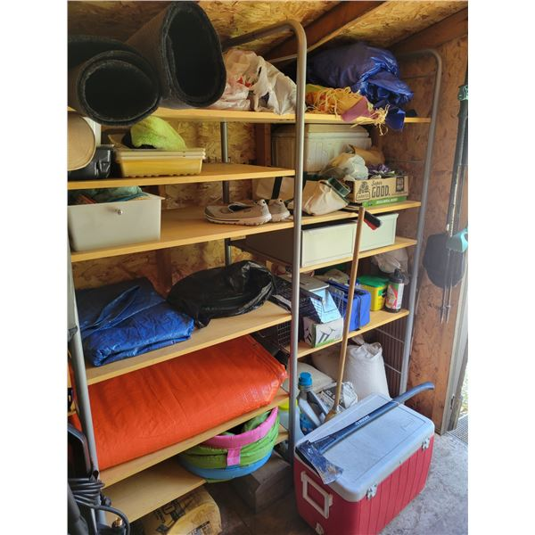 Shed Shelving - Tarps - Cement - Cooler - Axe