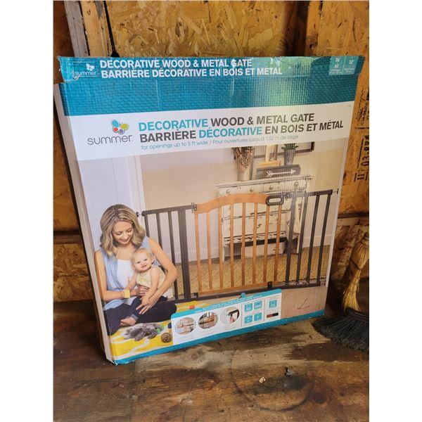 2 Wood & Metal Baby Gates