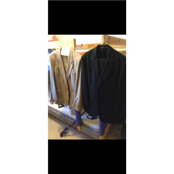 Men's Suit and Suede Dinner Jacket - Leather Jacket