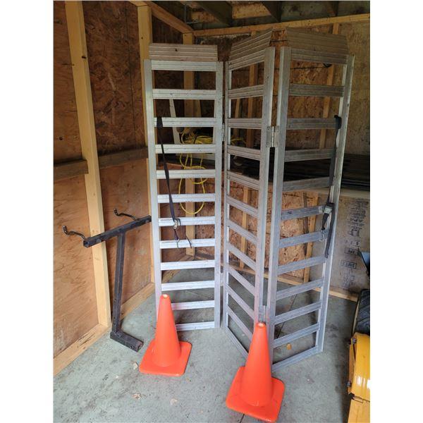 Truck Ramp - Pylons - Garden Sheets - Rope