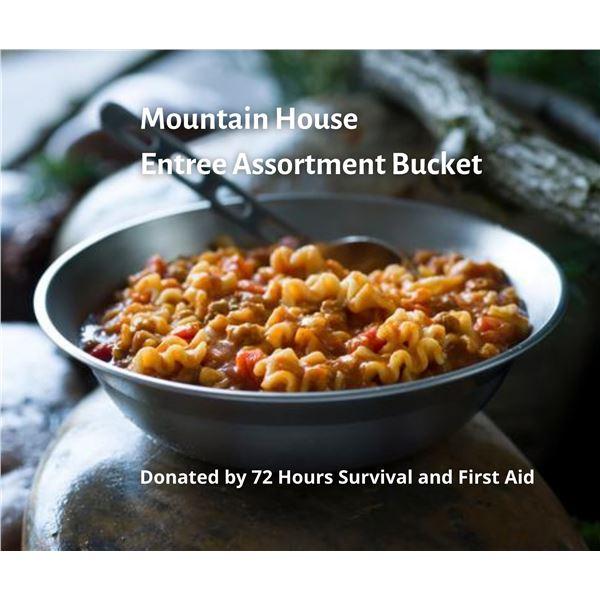 Mountain House Entrée Assortment Bucket (12 Mountain House pouches)