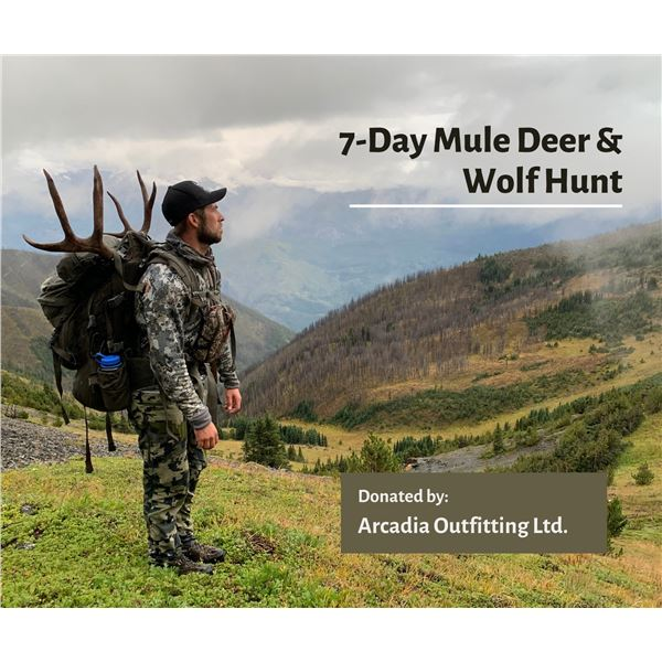 7-Day Mule Deer and Wolf Hunt