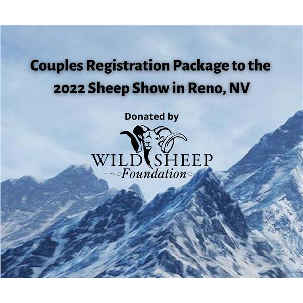 2022 Couples Registration package  - Sheep Show