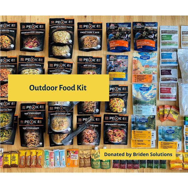 Briden Outdoor Food Kit - enough food to keep you going for 8 days