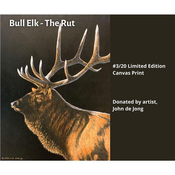 Bull Elk - The Rut. By John de Jong